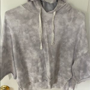 Cropped T-Shirt Marble Hoodie